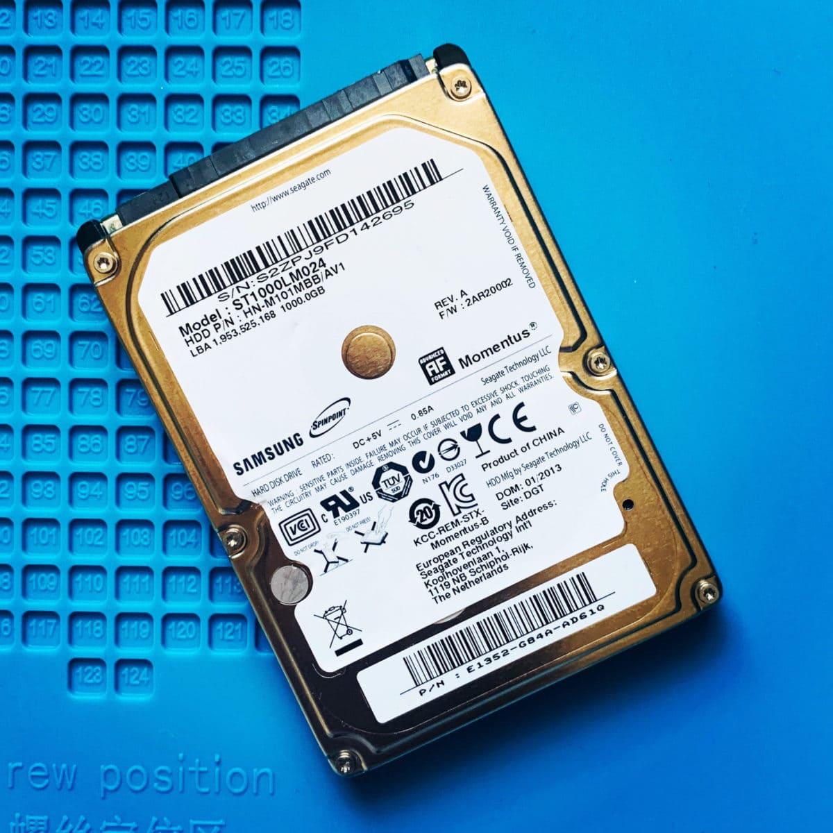 Samsung Laptop Hard Drive