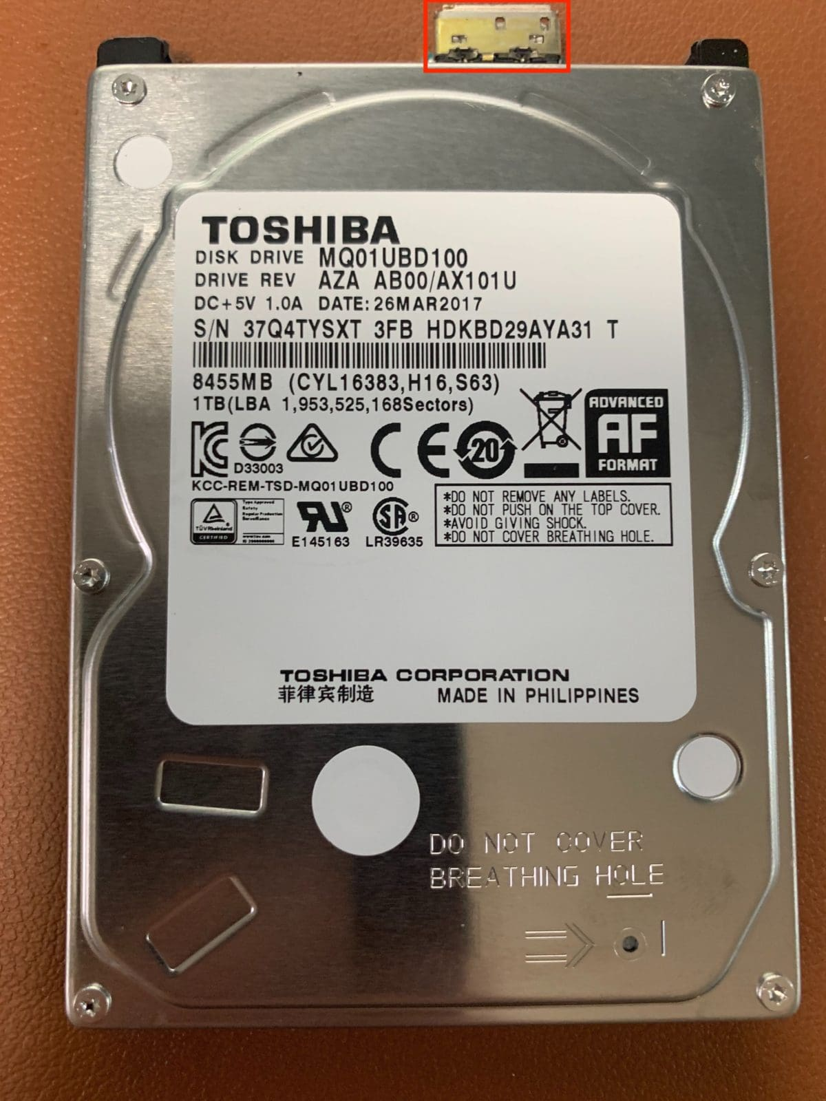 Toshiba USB External Drive Recovery