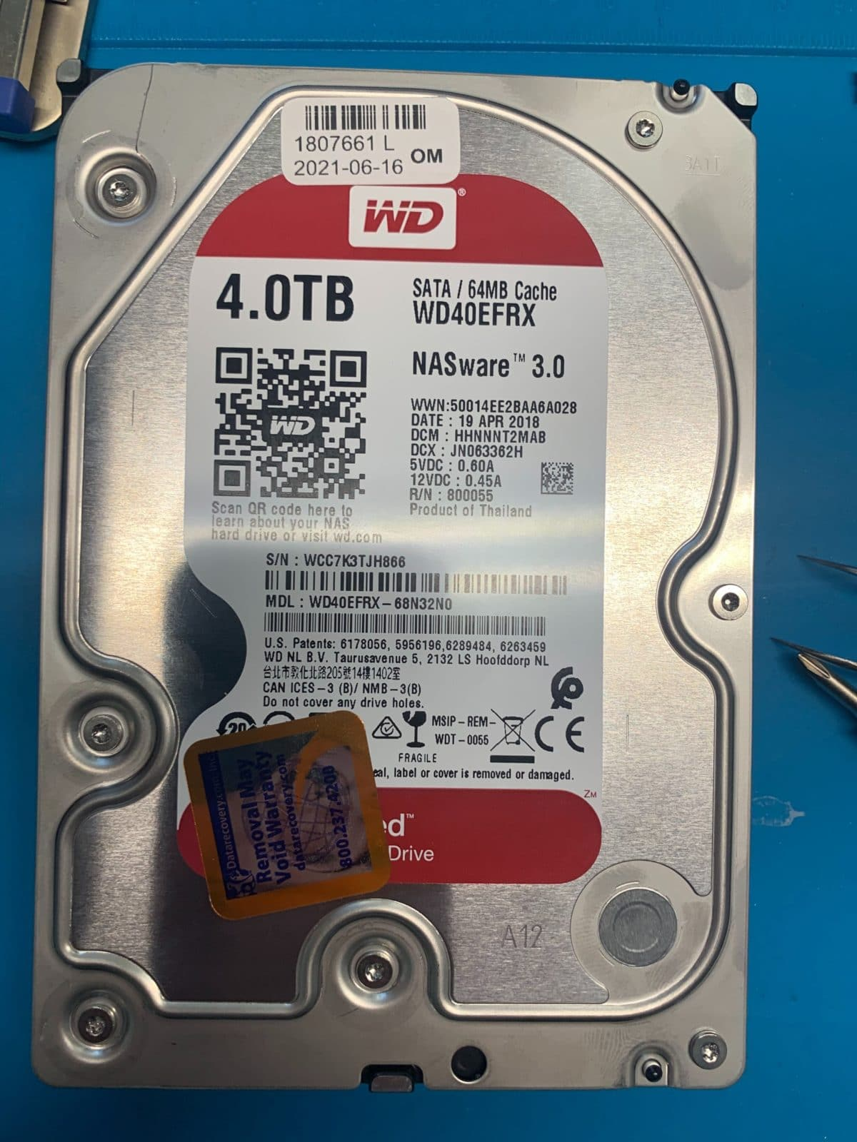 WD MyBook WD40EFRX 4TB Drive Recovered With Multiple Issues