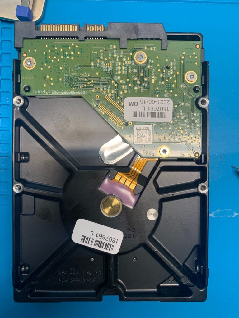 PCB of WD MyBook WD40EFRX 4TB Drive Recovered With Multiple Issues