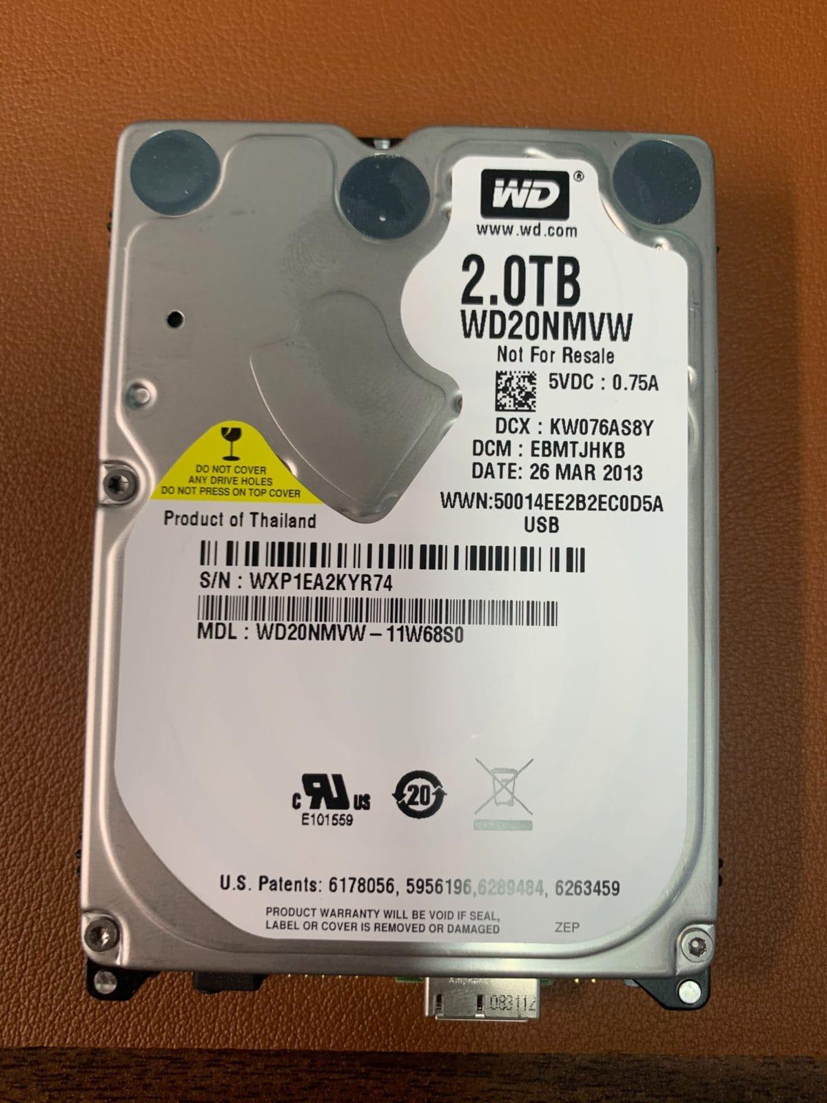 WD20NMVW 2TB Drive