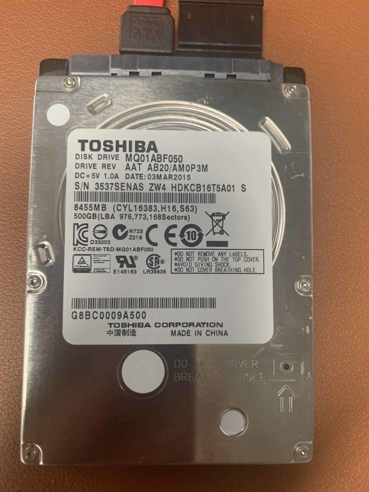 Toshiba Laptop Drive